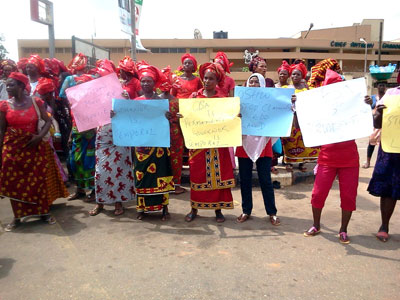 Protesting--women