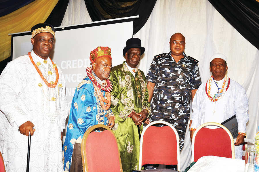 AIG Ogunshakin and some of the traditional rulers from Rivers, Akwa Ibom, Ebonyi and Cross Rivers states at the workshop