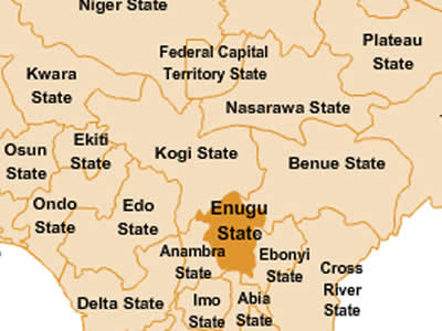 Enugu state map