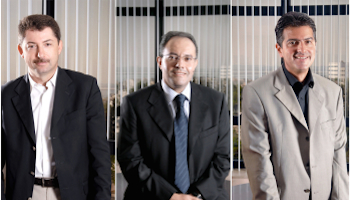 Left to Right, representatives of AfricInvest , Ahmed Abdelkefi, Karim Trad and Mebarek. Image source economie.jeuneafrique