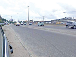 Along a  Lagos road