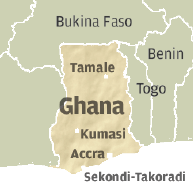 Ghana Map.  Image source africanbusinessmagazine