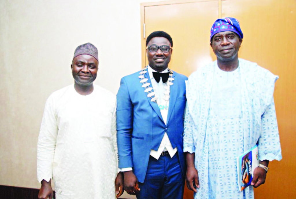 Director General, Lagos Chamber of Commerce and Industry, Muda Yusu (left);  President, Junior Chamber International (JCI), Victoria Island, Oluwatoyin Ajani and Medical Director of Inland Hospital, Dr. Jide Akeredolu at the event