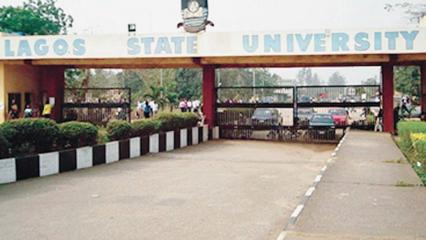 Entrance of the Lagos State Uiversity (LASU), Ojo , Lagos.