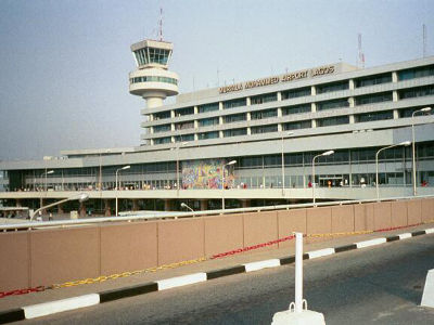 Murtala Mohammed International Airport, Lagos, Nigeria.