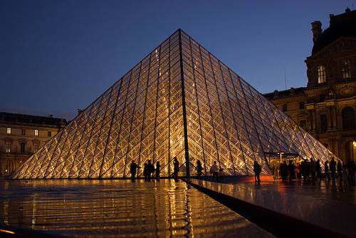 """Louvre Pyramid"" by Hteink.min - commons:File:Louvre Pyramid.jpg. Licensed under CC BY-SA 3.0 via Wikipedia."