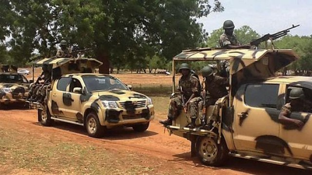 Terrorists' attack on military formations