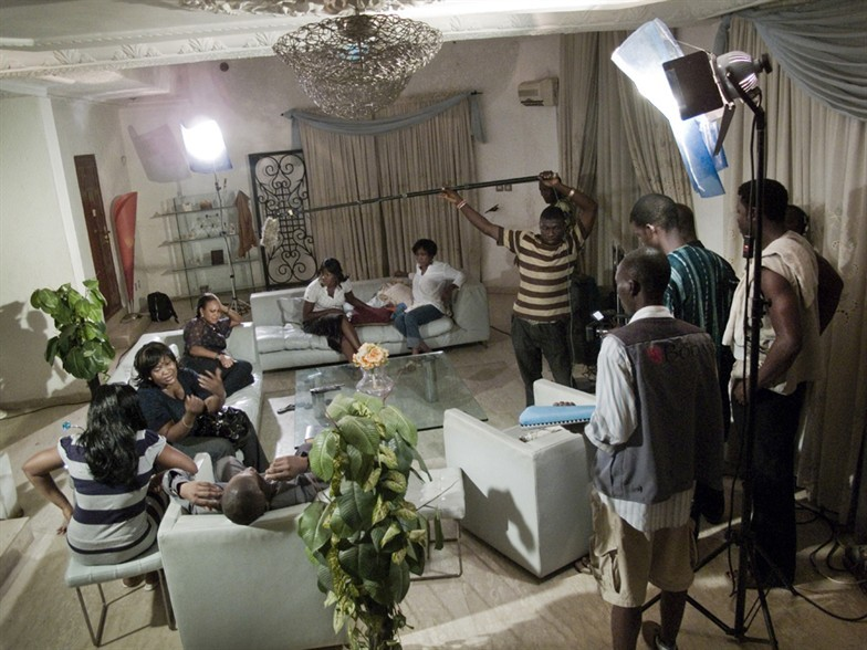 Nollywood Set (Actors and Actresses doing their job) Image: Nollywood