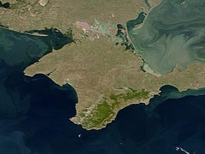 """Satellite image of Crimea"" by NASA. Licensed under Public Domain via Wikimedia Commons."
