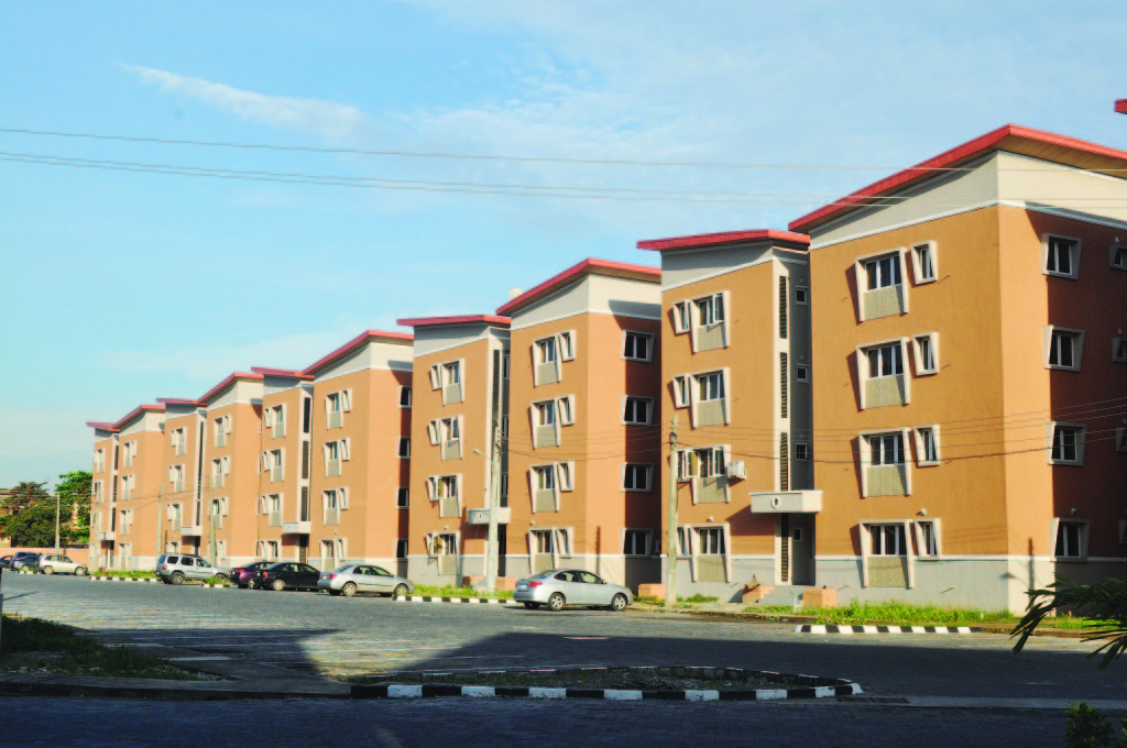 The newly completed Anthony Enahoro Housing Estate,Ogba, Lagos