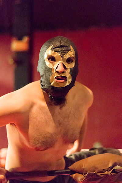 Unknown wrestler wearing a luchador mask at Victory Commonwealth Wrestling's Boxing Day show at Lee's Palace in Toronto, ON. PHOTO: Tabercil. Source: Wikipedia