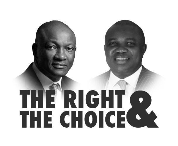 Jimi Agbaje and Akinwunmi Ambode (Lagos Gubernatorial Candidates)