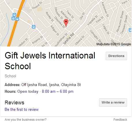 Map to Gift Jewels International School