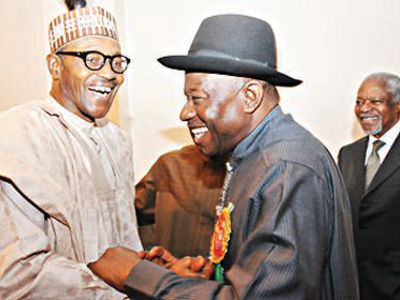 jonathan and buhari-