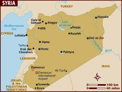 Map of Syria. Image source lonelyplanet