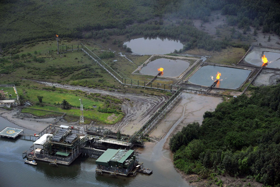 An oil field in the Niger Delta Photo: Getty Image