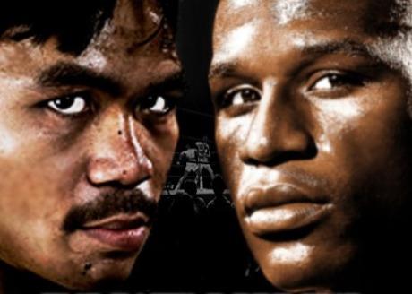 Pacquiao vs Mayweather. Image source hefightguru