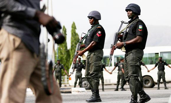Nigeria Security personnel. Image source theheraldng