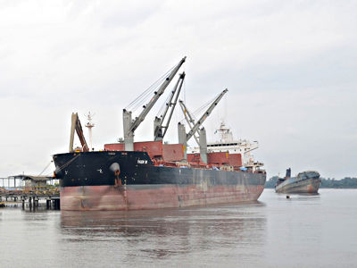 A ship on the sea. Image source Nigerianports