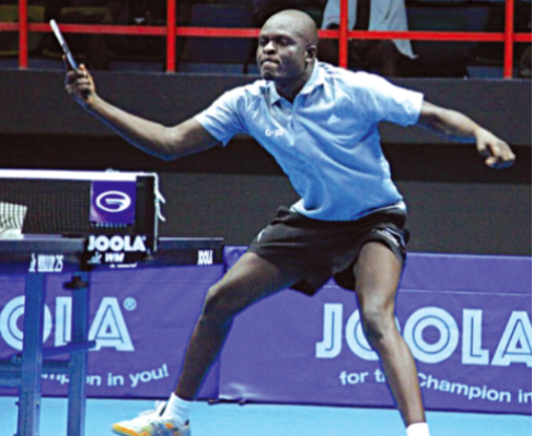 Nigeria's Babatunde Musibau in action during the just-concluded Lagos leg of the ITTF World Tour, tagged Lagos Open.