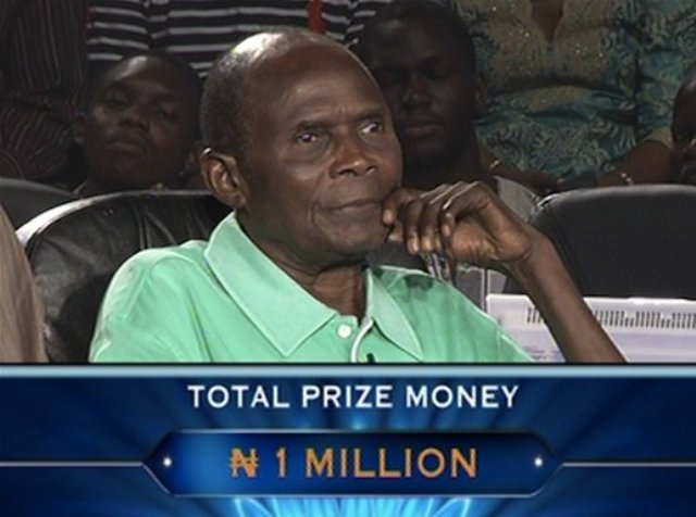 Willy Bazuaye During the Who Deserve to Be A Million Game Show
