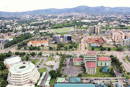 Aerial view of Abuja, recently 								PHOTO: SKYSCRAPPERCITY