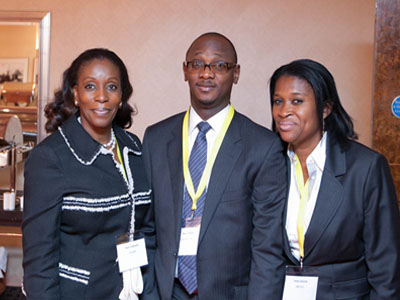 rom left: Mrs. Kemi Adewole, Vice President of the Association of Assets Custodians of Nigeria, Mr Kunle Kuku of StanbicIBTC Bank Plc and Mrs. Taiwo Sonola, General Secretary of the Association.