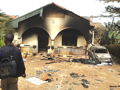 One of the burnt houses