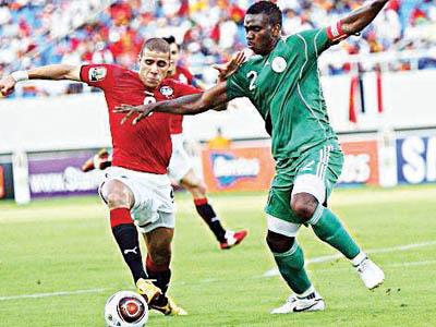 Egypt football team vs Nigeria during a football match