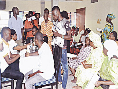 A cross-section of participants at the medical check-up