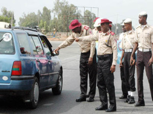 Men of FRSC on duty