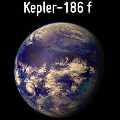 Kepler 186-f is the first Earth-sized exoplanet to be found that may be capable of supporting life. image source twitter