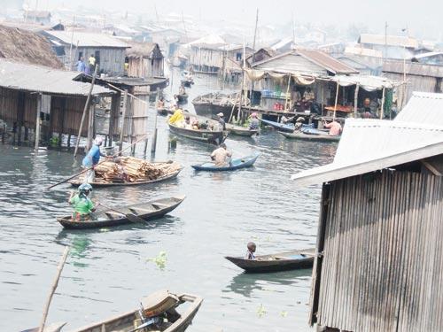 A slum area in Lagos