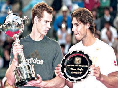 Murray (left) and Nadal