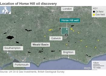 Oil field near Gatwick