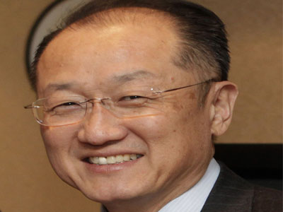 The president of the World Bank, Jim Yong Kim