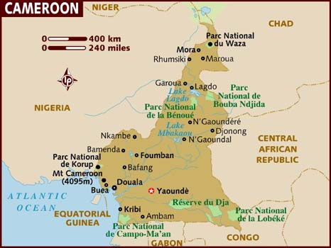 cameroon map