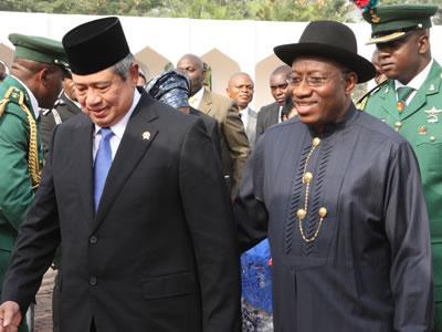 Jonathan and former President of Indonesia Susilo Bambang Yudhoyono