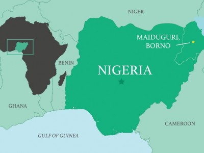 map of Nigeria. PHOTO-interamerica