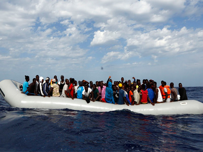 Some rescued migrants