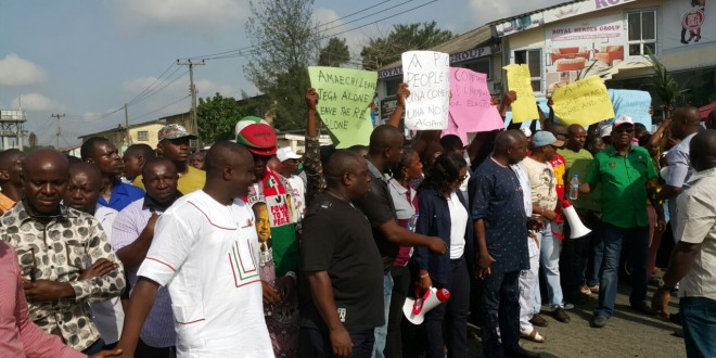 rivers protest