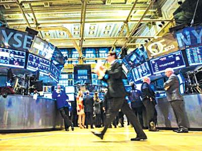 stockbroker on floor New York Exchange