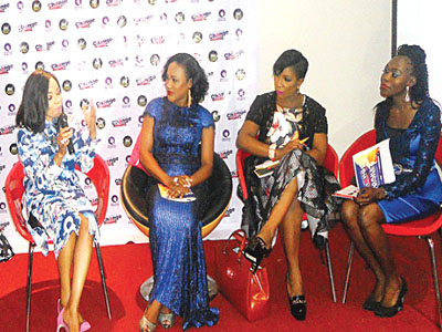 women receive nuggets for break through at conference