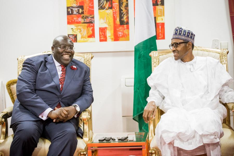 TOM AMOLO Kenya Ambassador to Nigeria with the president.