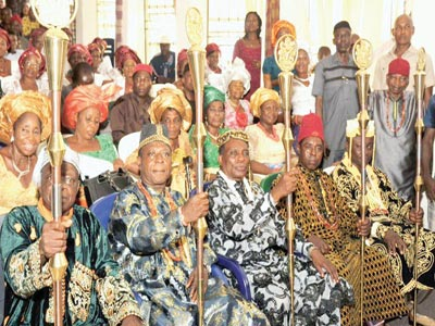 Cross-section of the newly inaugurated traditional rulers in Abia State