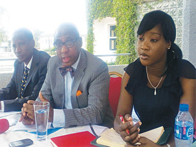 Coordinator APRA, Kayode Yeku; Secretary-General APRA, Yomi Badejo-Okusanya and Sade Olorunyomi
