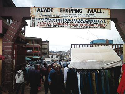Alade Market, Ikeja. PHOTO; osundefender