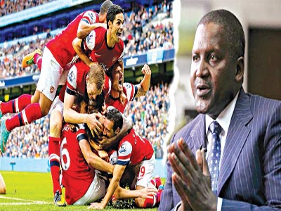 Image result for Dangote renews interest in buying Arsenal