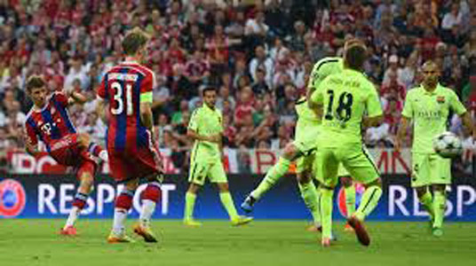 Thomas Muller's goal gave Bayern victory on the night but it was not enough. PHOTO: espnfc.com