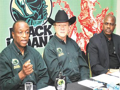 Director, Black Iguana, Dr. Solomon Olatoye  (left); President/Founder, DGI Beverages, Mr. Earl Castor; and Director for African Regions, Mr. Lanre Okupe at the media launch of Black Iguana Margarita in Lagos...recently.
